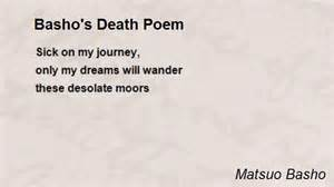 Basho's death poem